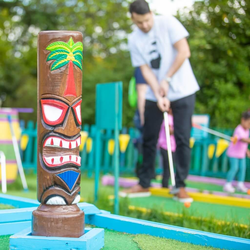 Crazy Golf Course Totem Pole