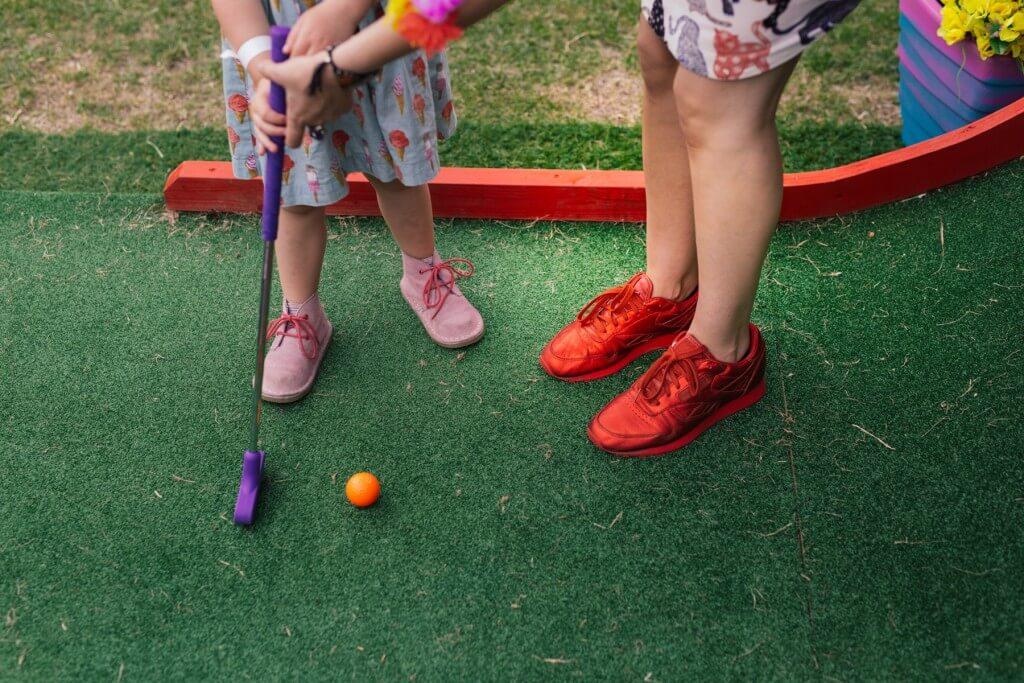 Plonk Crazy Golf kids playing